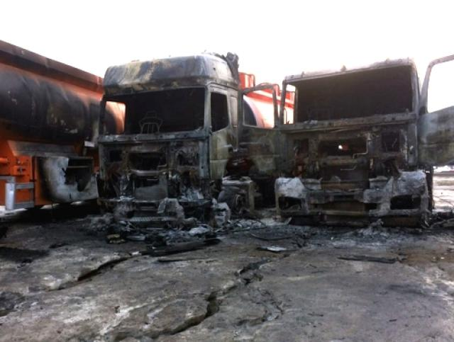 ВНабережных Челнах в итоге пожара сгорели 2 бензовоза