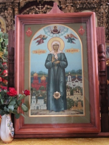 В Боровецкую церковь прибыла икона Матроны Московской
