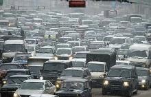 В Набережных Челнах в пятницу утром возникла гигантская дорожная пробка