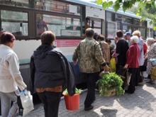Автобусы отправляются в садовые общества на 1 час раньше