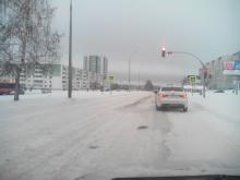 Челнинские дорожники вновь не справились со снегопадом