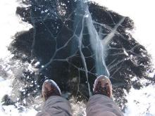 «На льду, в полынье и под водой»