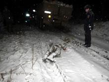 Водитель выпрыгнул из кабины под колеса грузовика и погиб