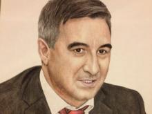 Василь Шайхразиев оценил свой портрет от челнинской художницы: «Глаза! В них огонь!»