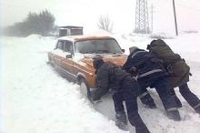 Замерзшие на дороге