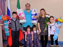 В семье Латышовых родилась еще одна двойня - пятый и шестой ребенок