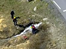 Ильнур Закарин на 19-м этапе велогонки «Джиро д'Италия» упал в ручей и сломал ключицу (видео)
