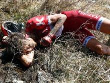 Кроме ключицы, велогонщик Ильнур Закарин сломал в горах Италии еще и лопатку