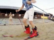Челнинцы бегали по песку на лыжах и на 'лабутенах', выигрывая билеты на концерт Сергея Шнурова