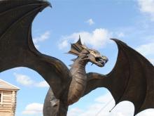 На Чертовом городище в Елабуге установили статую Змея-оракула