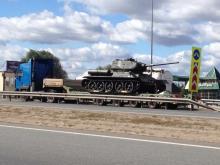 Танк Т-34 сегодня начнут устанавливать в парке Победы