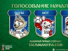 В финале конкурса на символ Чемпионата мира по футболу в России 2018 г. оказались кот, волк и тигр