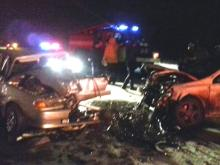 Возле Набережных Челнов на трассе М-7 в ДТП пострадала молодая пара на 'ВАЗ-2114'