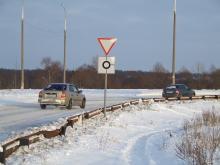 На Боровецком кольце установили знаки «уступи дорогу» и «круговое движение»