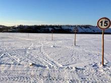Первая в Татарстане ледовая переправа открылась на реке Кама возле Соколок