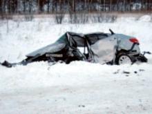В Татарстане в страшной автоаварии с участием трех машин погибли два человека