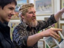 Челнинский художник Анатолий Пашин удостоен золотой медали Союза художников России