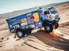 На 6 этапе ралли 'Африка Эко Рейс' в классе грузовиков первыми финишировали Каргинов и Куприянов