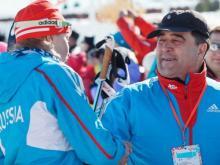 Елена Вяльбе и Ильшат Фардиев готовятся награждать победителей Универсиады лыжников России