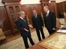 Владимир Путин и Дмитрий Медведев встретились с Минтимером Шаймиевым накануне его 80-летия