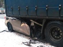 В Зеленодольском районе погиб водитель иномарки, залетев под припаркованный на дороге большегруз