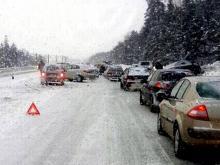 В утренних массовых ДТП на въезде в Набережные Челны люди не пострадали. Но возникли пробки