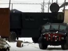 Броневик «Каратель» на базе раллийного «КАМАЗа» уничтожал сегодня боевиков в Хасавюрте