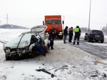На автотрассе М-7 на выезде из Мамадыша при столкновении 'Лады' и 'Оки' погибла женщина
