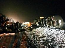 Вечером на трассе М-7 в Татарстане произошло страшное столкновение двух большегрузов