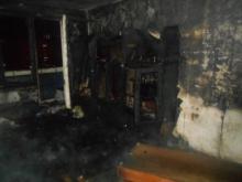 Ночью спасатели эвакуировали из дома 30/09 12 человек - горела квартира на 8 этаже