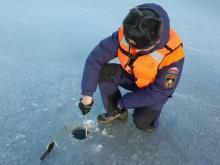 Толщина льда на реке Кама возле Набережных Челнов уменьшилась до 25 сантиметров