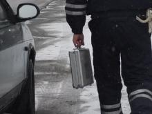 Из-за подозрительного чемодана полиция перекрыла движение на перекрестке Мира-Яшьлек