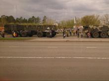 В Набережных Челнах на параде 9 мая показали новейшую разработку автотягача для армии