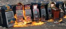 Кто-то спалил игровые автоматы
