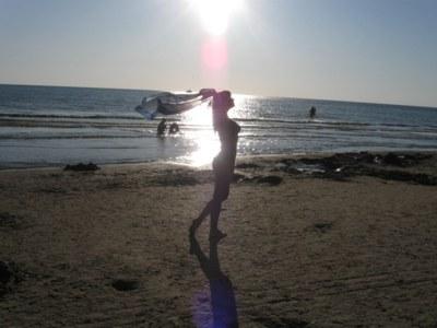 Фото девушки на азовском море