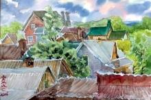 Весенние пейзажи Алмаса Идрисова с трассы 'Набережные Челны - Сарманово'